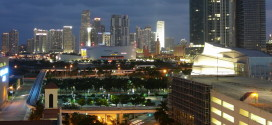 downtown miami at night crop
