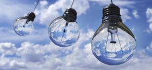 green energy at home icon light bulbs