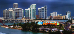 Hechtkopf team icon miami skyline