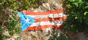 investing in puerto rico icon flag on rock