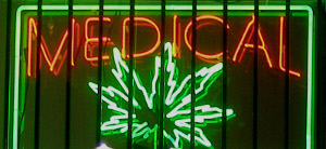 medical marijuana update icon neon sign