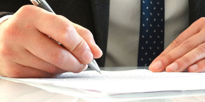 family office icon signing legal document